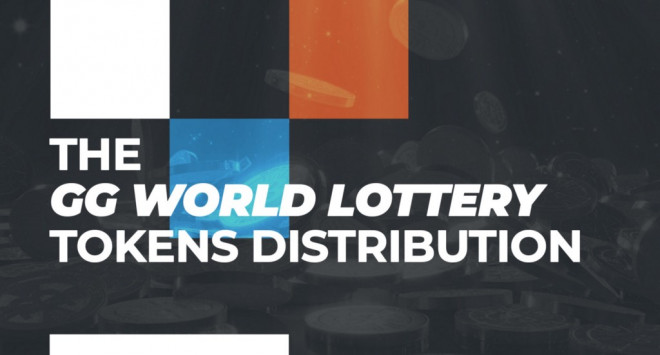 The GG World Lottery tokens distribution